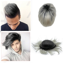 Popular customized color toupee T color hair prosthesis could make any base