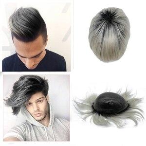 Image 1 - Tupé de color personalizado Popular, prótesis de cabello de color T que podría hacer cualquier base