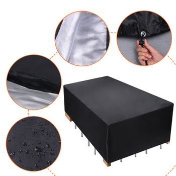 66 Black Silver Waterproof Outdoor Patio Garden Furniture Covers Rain Snow Chair covers for Sofa Table Chair Dust Proof Cover