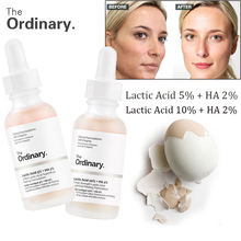The Ordinary Lactic Acid 5%  10% + HA 2% Superficial Peeling Formulation 30ml Face Skin exfoliation remove scars spots