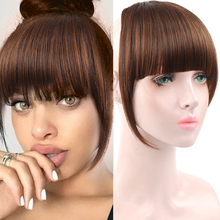 Hairpieces Blunt-Bangs Clip-In LUPU Short False Fake Natural Straight Women