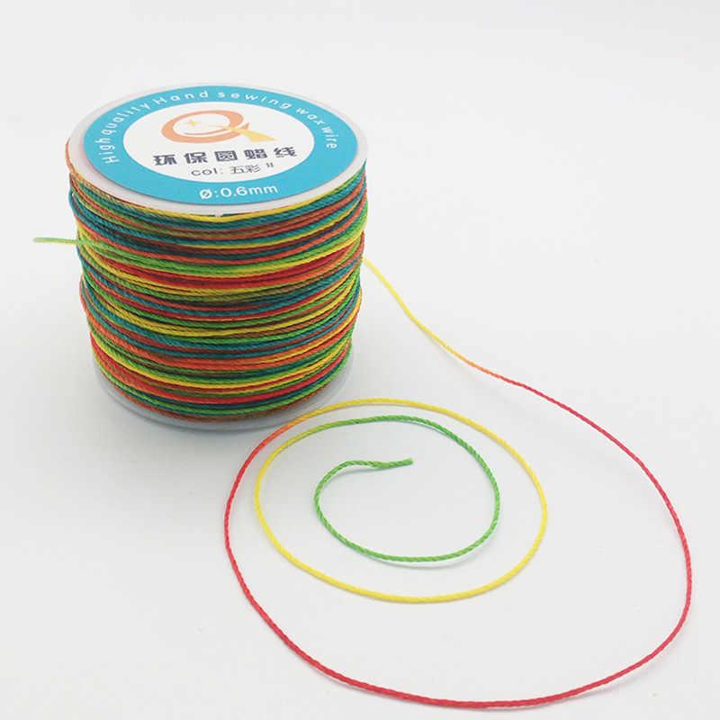 0.6 Mm Bulat Wax Benang Lilin String Linen Jahitan Benang untuk Kulit Kerajinan Jahit DIY Membuat Perhiasan