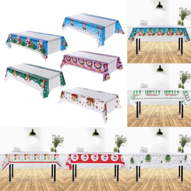 New Year Christmas Tablecloth Kitchen Dining Table Decorations Rectangular Table Covers Christmas Decorations For Home Navidad