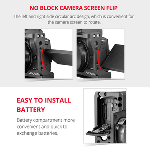 Image 5 - Andoer Camera Cage + Top Handle Kit Aluminum Alloy with Cold Shoe Mount Compatible with Canon EOS M50 DSLR Camera