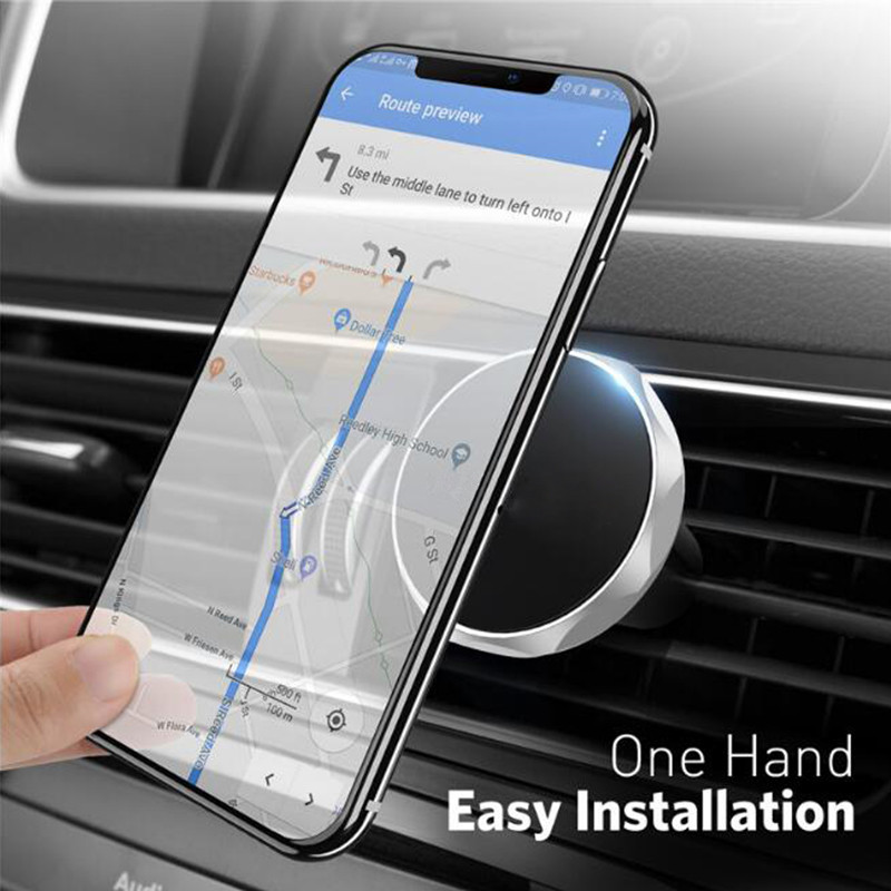 Car Phone Holder Magnetic Air Vent Mount Mobile Smartphone Stand Magnet Support Cell in Car GPS For iPhone XS Max Samsung Holder in Phone Holders Stands from Cellphones Telecommunications