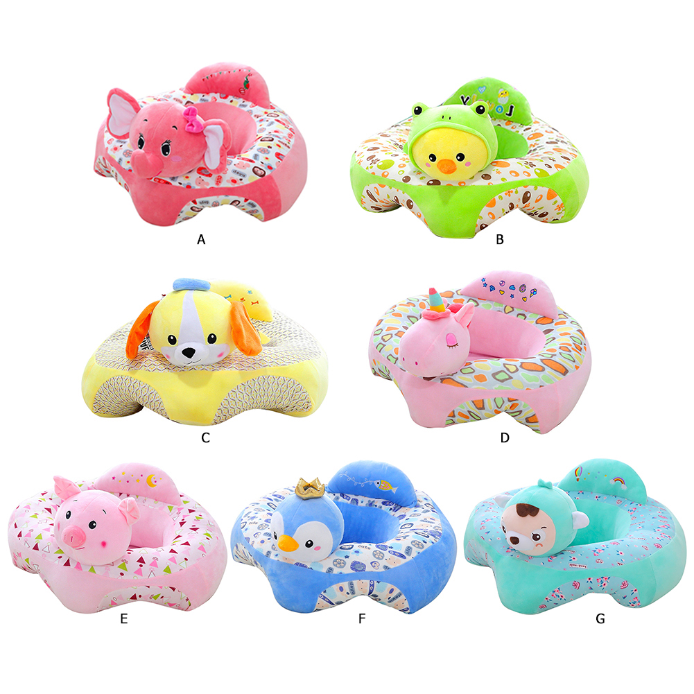 Cartoon Children Infant Sofa Cover Learning Sitting Toddle Chair Baby Sofa Children Support Seats Plush Toys