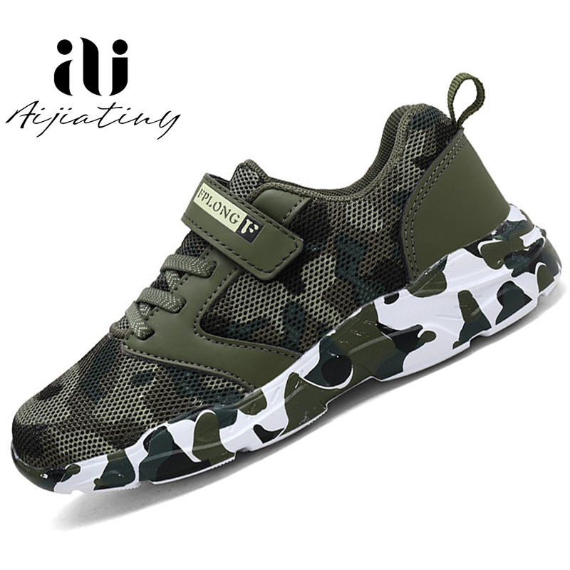 2020 Spring Kids Sneakers Children Shoes Camouflage Leather Kids Brand Fashion Boy Shoes Waterproof Sport Shoes For Girls