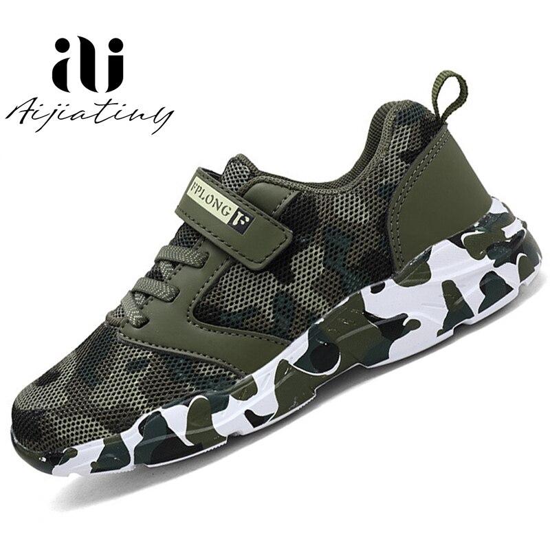 Baskets de printemps pour enfants   Chaussures de Camouflage en cuir, chaussures de sport imperméables pour garçons, marque à la mode, 2020