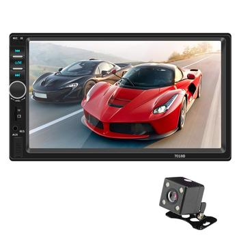 Car radio 7 inch 2din touch screen car MP5 player Bluetooth stereo support rear view camera