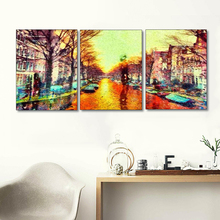 Laeacco Canvas Painting Calligraphy 3 Panel Watercolor Graffiti Posters and Prints Wall Artwork Nordic Living Room Home Decor