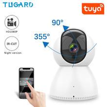 Tuya wi fi ptz 1080p ip камера для помещений hd умная наблюдения