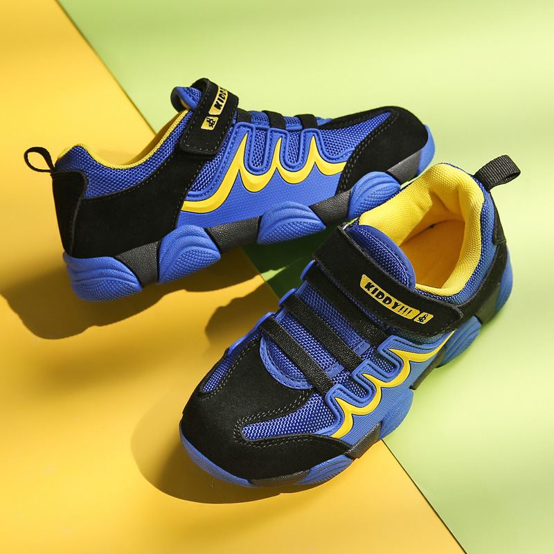 Children Outdoor Running Sport Shoes Damping Sneakers Kids Boys Basketball  Shoes Thick Rubber Sole Non-slip SD044