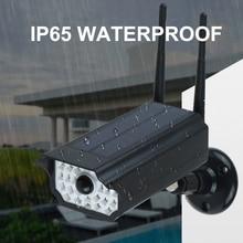 Солнечный светильник RIR датчик движения поддельные Пули безопасности камера форма солнечной энергии лампа IP65 Водонепроницаемый Открытый Солнечный садовый светильник s