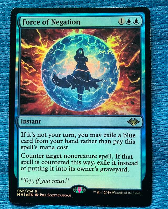 Force Of Negation MH1 Foil Magician ProxyKing 8.0 VIP The Proxy Cards To Gathering Every Single Mg Card.
