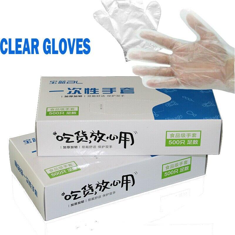 500pcs/100pcs Disposable Vinyl Gloves Kitchen Food Disposable Surgical Gloves For Adult Kids