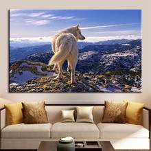 new hot sale MountainS WolfS Unframed Canvas Paintings Living Room Wall Picture Poster Decor modern and artistic wall decoration(China)