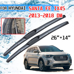 Image 1 - For Hyundai Santa Fe IX45 2013 2014 2015 2016 2017 2018 DM Accessories Front Windscreen Wiper Blade Brushes for Car Cutter U J