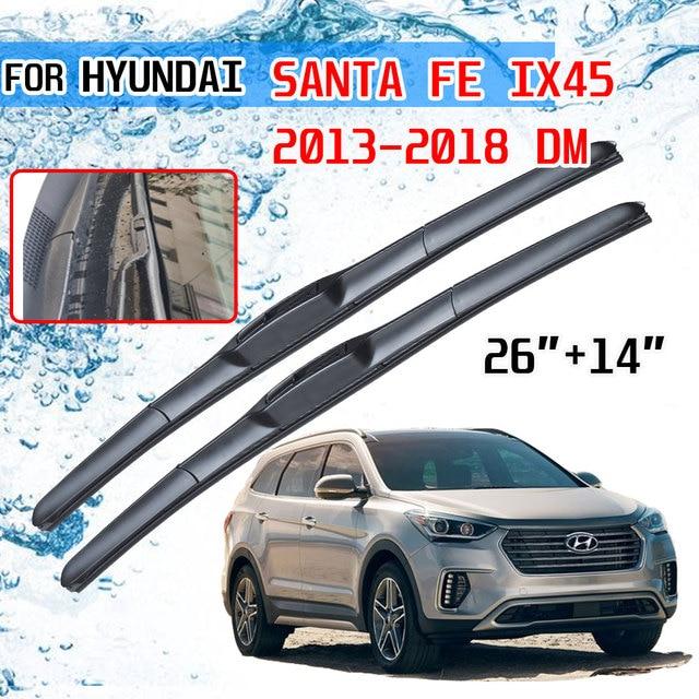 For Hyundai Santa Fe IX45 2013 2014 2015 2016 2017 2018 DM Accessories Front Windscreen Wiper Blade Brushes for Car Cutter U J