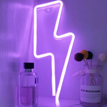 Neon-Light Battery LED Usb-Powered Wedding Party Home-Decor Kids Room Window-Shop