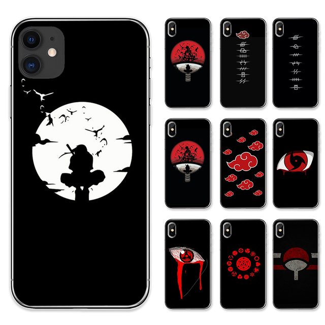 Japanese Anime Naruto Itachi Black Phone Case for IPhone 11 Pro Max 8 Plus 7 Plus 6S 5S SE X XS MAX XR Coque Soft TPU Covers
