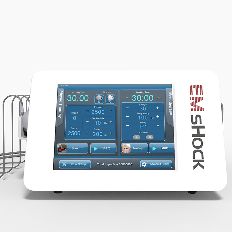 Electric Muscle Stimulation + Shock Wave Therapy For ED Treatment Decrease Abdominal And Body Fat  Muscle Growth Strength Train