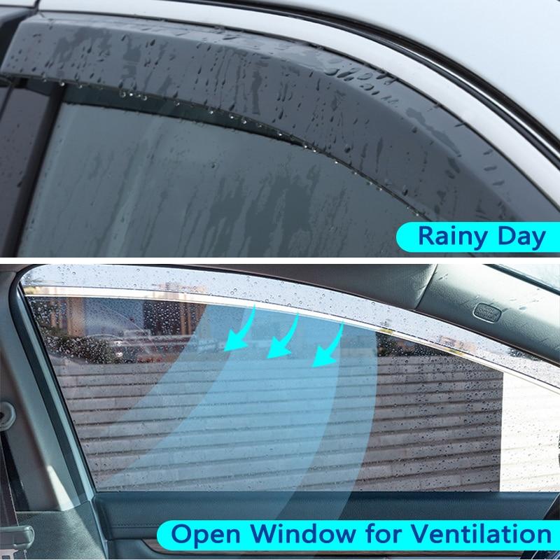 Rain Window Visor Vent 4pcs Kit For 2004 2008 Suzuki Forenza Lacetti