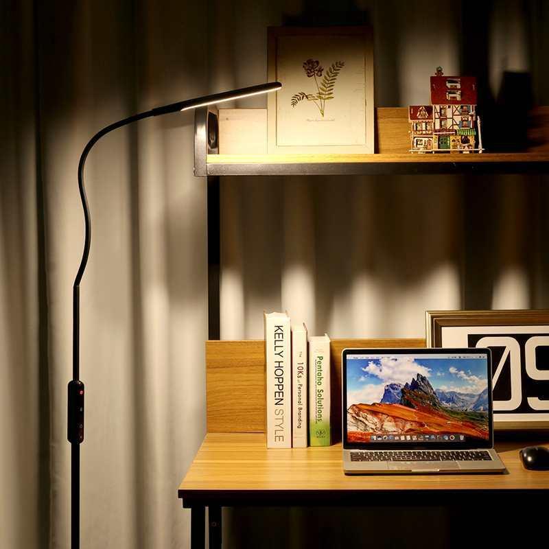 BlitzWolf BW LT28 10W רצפת גמיש עומד מנורת שולחן מנורת עם 5 רמות בהירות שלט רחוק AC 100 ~ 240V חכם| | - AliExpress