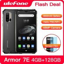 Ulefone armadura 7e impermeável áspero smartphone android 10 4gb + 128gb nfc helio p90 ip68 5g wifi 5500mah telefone celular