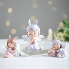 Angel Annie Figurines Fairy Garden Miniatures Resin Ornaments Fairy Girl Elf Statue Home Decor Room Decoration Birthday Gifts