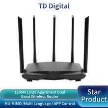GC7 AC1200M WiFi 라우터 무선 Roteador 2.4Ghz/5.0Ghz 고 이득 안테나 홈 커버리지 듀얼 밴드 Wifi 리피터, 쉬운 설정