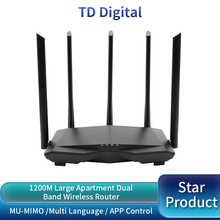 GC7 AC1200M WiFi Router Wireless Roteador with 2.4Ghz/5.0Ghz High Gain Antenna Home Coverage Dual Band Wifi Repeater,Easy Setup