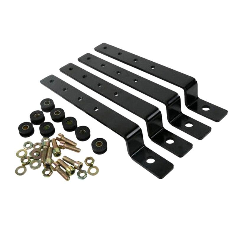 Black Universal Motorcycle Hard Saddlebag Mounting Kit Set
