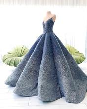 Oszałamiająca elegancka ciemny granatowy księżniczka Quinceanera sukienki kryształowe koraliki sukienka na studniówkę suknia balowa suknie na bal maturalny tanie tanio singkarak Poliester Długość podłogi V-neck Bez rękawów -Line Koronki