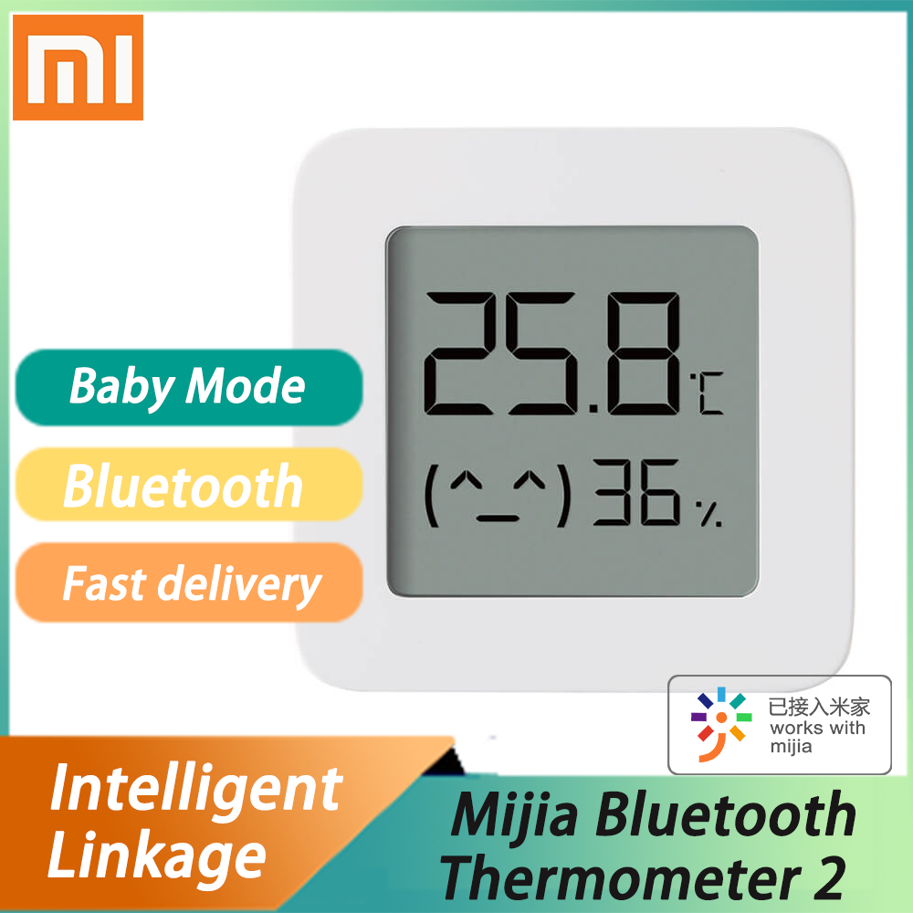 Youpin Original Mijia Bluetooth Thermometer 2 Wireless Smart Electric Digital Hygrometer Thermometer Work With Mijia APP