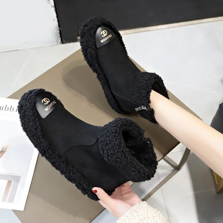 Women Boots 2019 New Plush Snow Boots For Winter Shoes Women Casual Lightweight Ankle Botas Mujer Warm Winter Boots Female 86