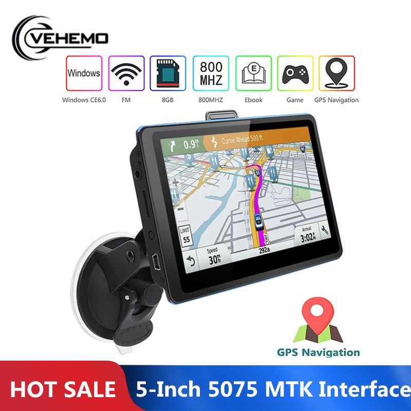 GPS Navigation Portable 8GB Car Map for Lifetime Tf-Card 3d-View