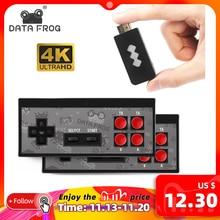 データカエル4 hdmiビデオゲームコンソール内蔵568クラシックゲームミニレトロコンソールワイヤレスコントローラhdmi出力デュアルプレーヤー