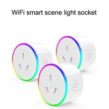 Prise de courant intelligente WiFi avec moniteur dalimentation télécommande minuterie prise de courant pour Android/IOS téléphone App AU/ue/US/JP/royaume uni