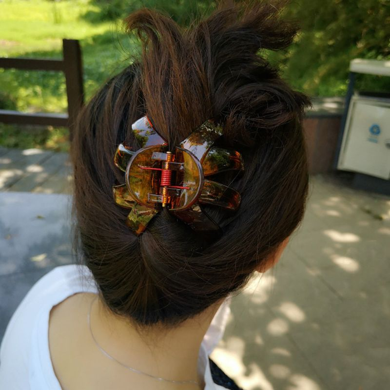New Ladies Sausage Curved Shape Hair Claw Clip Hair Accessories