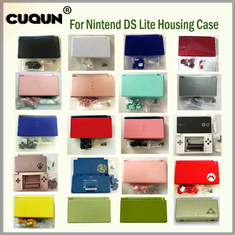 22 Pure Colors Full Housing Shell Case Cover For Nintend DS Lite Console Case Housing Shell With Free Screwdriver  amp  Film