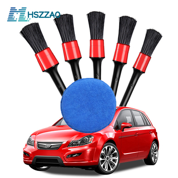 Car Detailing Brush Wash Brushes for Car Interior Cleaning Wheel Gap Rims Dashboard Air Vent Trim Detailing Washing Tools 2019 new beech handle bristles hair brush car wheel rim clean interior air vent engine brush car wash auto detailing accessory
