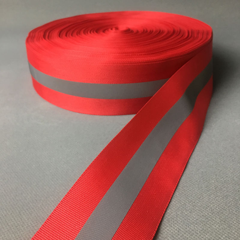 100 Meters Reflective Strips Red Cloth Reflective Fabric Sewing Tape ,5cm *1.5cm Width DIY Reflection Warning Ribbon Material