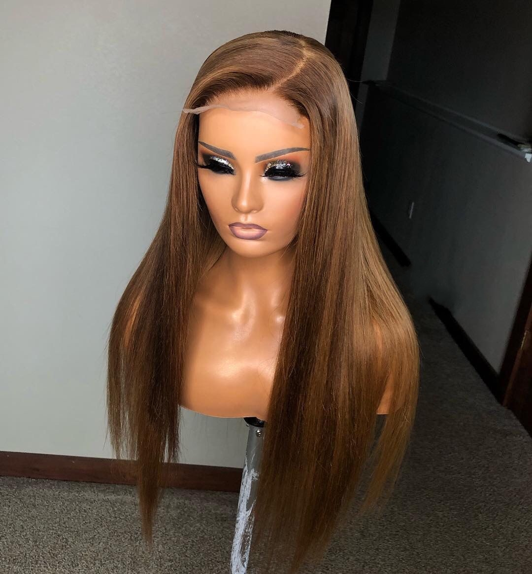 H923ce167fc7b4659be8ef1fd8dde14b90 13x6 Lace Front Human Hair Wigs Pre Plucked Brazilian Remy With Baby Hair Straight Highlight Ombre Wigs Dream Beauty