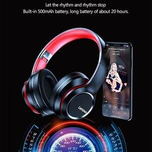Image 5 - Lenovo Bluetooth,ワイヤレスコンピューター,ノイズキャンセル,hifi,ゲーム用の耳かけ型ヘッドセット