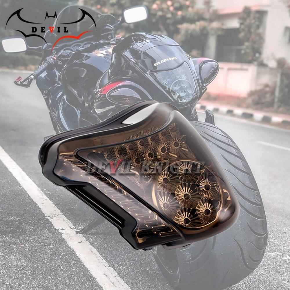 Motorcycle LED Tail Light Turn Signals For SUZUKI HAYABUSA GSXR1300 2008-2016Rear Tail Light Brake Turn Signals Integrated Light