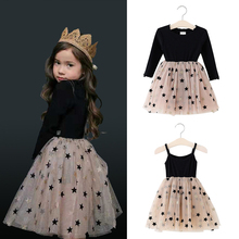 2019 autumn children princess dresses long sleeve winter tutu dress toddler kids girl wedding dress for party baby girls costume amya baby girls winter dress thicken warm faux fur vest toddler girl dress 2pcs princess costume kids clothes tutu girls dresses
