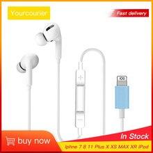Fones de ouvido com fio adequado para iphone se 2020 e fone de ouvido bluetooth com fio adequado para iphone6 7 8plus x xr xs max 10