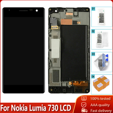 OLED originale Per Nokia Lumia 730 RM 1038 LCD Display Touch Screen Con Cornice Digitizer Assembly di Ricambio Testati Al 100%