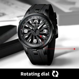 Image 4 - MEGALITH Men Military Watches Creative Turbine Rotation Dial Watch Sport Waterproof Quartz Watches Mens Clock Relogio Masculino