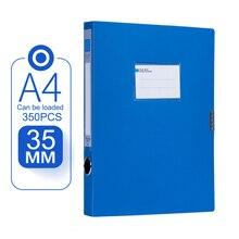 Портативный A4 коробка для файлов и документов 3,5 см сумка для хранения файлов Папка легкий бизнес Органайзер коробка для файлов